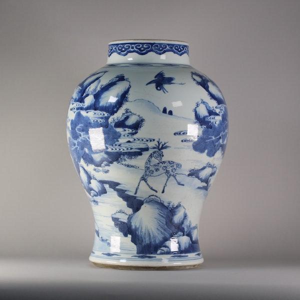 Chinese baluster landscape vase, Kangxi (1662-1722) - image 1