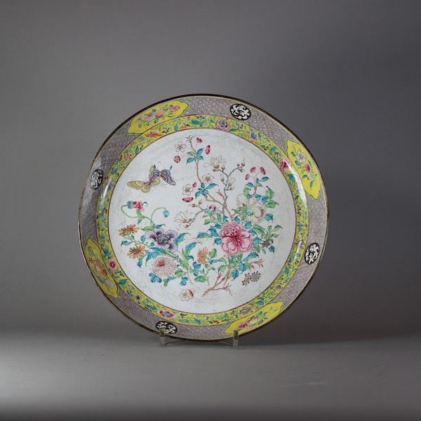 Canton enamel circular dish, late Qianlong (1736-95) - image 1
