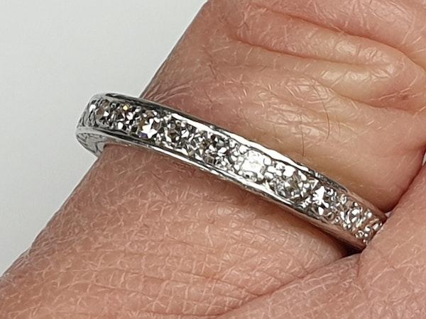 Art Deco Diamond Eternity Ring  DBGEMS - image 2