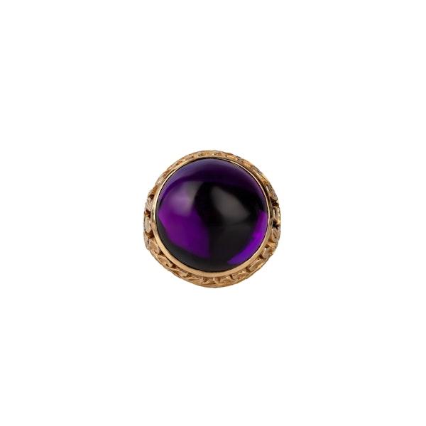 Amethyst gold ring - image 1