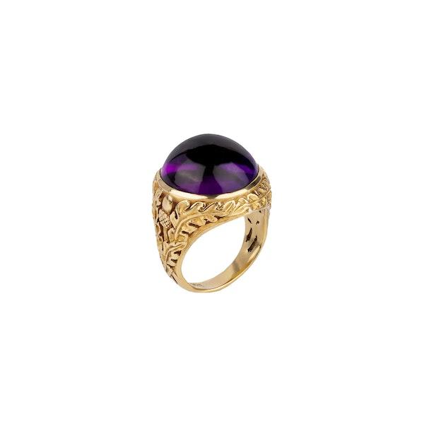 Amethyst gold ring - image 2