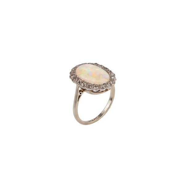 Opal and diamond ring - image 2