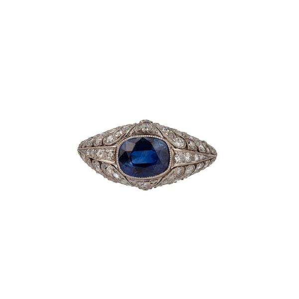 Edwardian sapphire and diamond ring - image 1