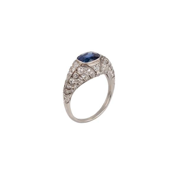 Edwardian sapphire and diamond ring - image 2