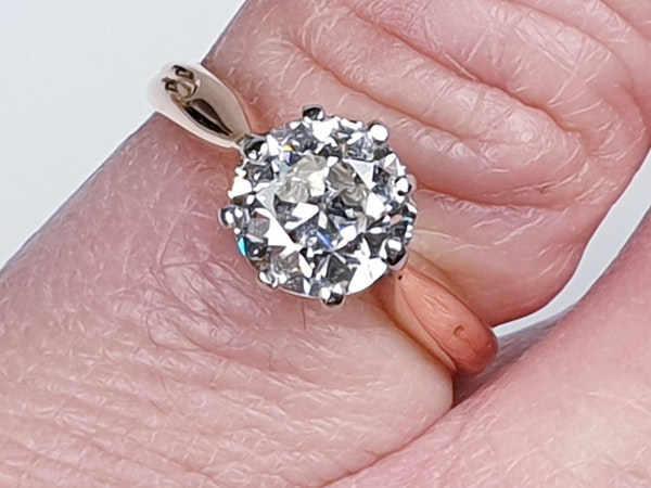 1.41ct Art deco diamond engagement ring  DBGEMS - image 1