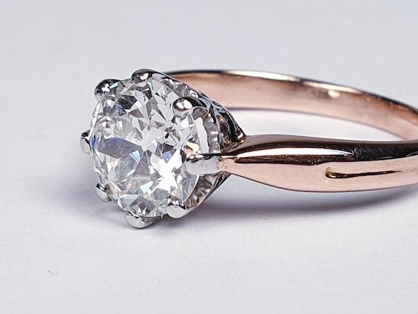1.41ct Art deco diamond engagement ring  DBGEMS - image 4
