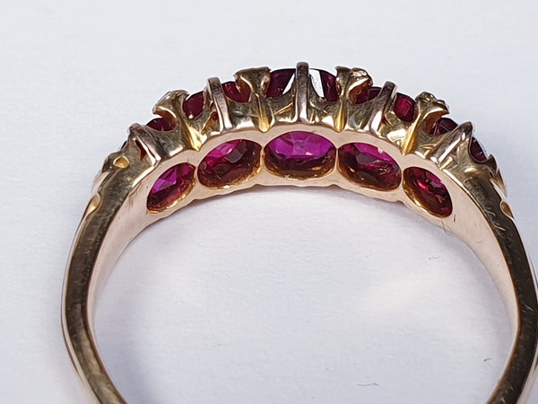 Gem Burmese ruby five stone ring  DBGEMS - image 3