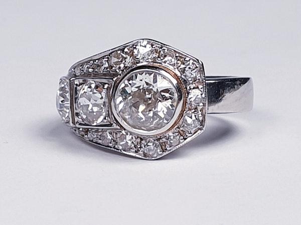Art deco diamond dress ring  DBGEMS - image 4