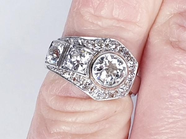 Art deco diamond dress ring  DBGEMS - image 3
