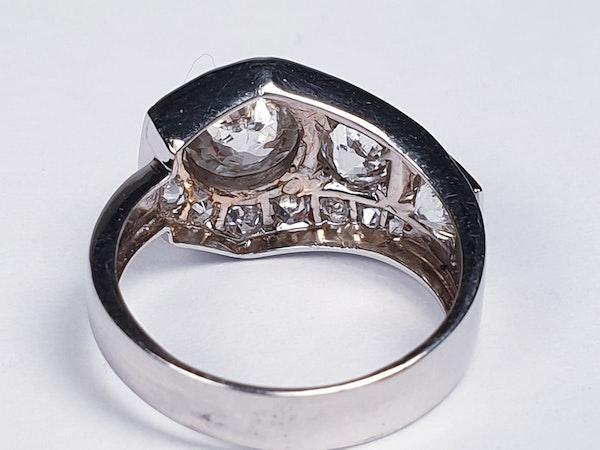 Art deco diamond dress ring  DBGEMS - image 2