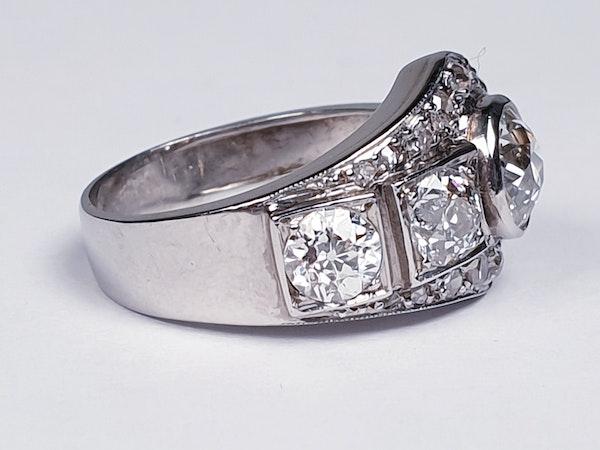 Art deco diamond dress ring  DBGEMS - image 1