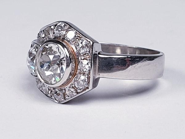 Art deco diamond dress ring  DBGEMS - image 5