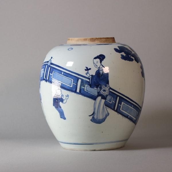 Chinese blue and white ginger jar, Kangxi (1662-1722) - image 3