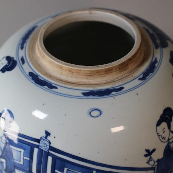 Chinese blue and white ginger jar, Kangxi (1662-1722) - image 4