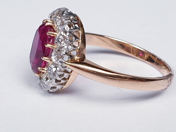 Antique ruby and diamond engagement ring  DBGEMS - image 5