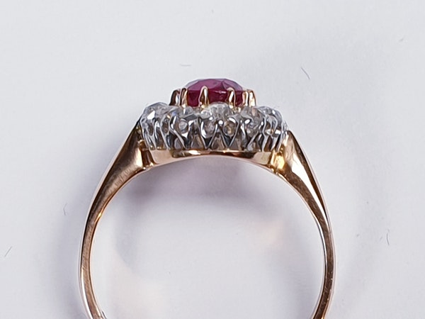 Antique ruby and diamond engagement ring  DBGEMS - image 2