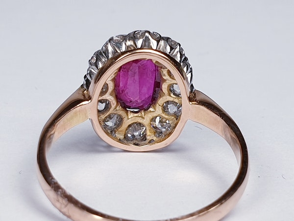 Antique ruby and diamond engagement ring  DBGEMS - image 1