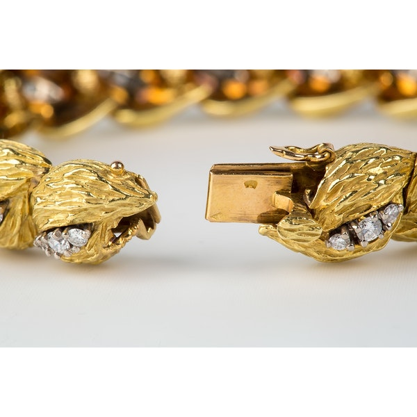 Vintage Georland of Paris, 18 Karat Gold and Diamond Bracelet, French circa 1965 - image 5