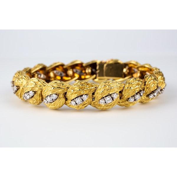 Vintage Georland of Paris, 18 Karat Gold and Diamond Bracelet, French circa 1965 - image 2