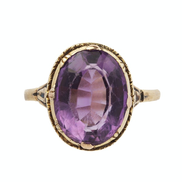 Georgian Amethyst Ring - image 1