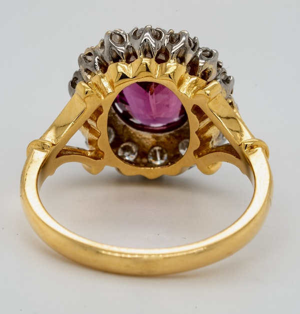 18K yellow/white gold 2.41ct Natural Ruby and 0.80ct Diamond Ring - image 3