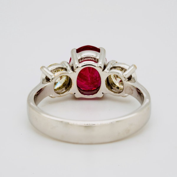 18K white gold 2.14ct Natural Burma Ruby and 0.70ct Diamond Ring. - image 4