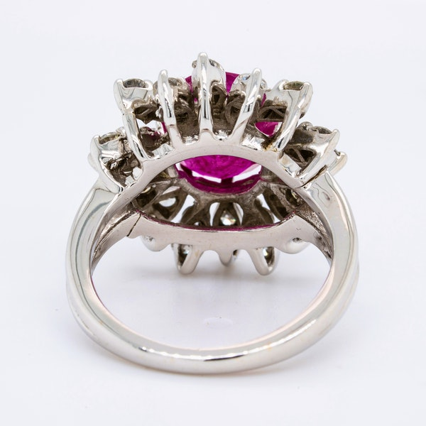 14K white gold 2.50ct Natural Ruby and 0.50ct Diamond Ring - image 4
