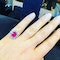 14K white gold 2.50ct Natural Ruby and 0.50ct Diamond Ring - image 5