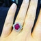 18K white gold 3.54ct Natural Ruby and 0.32ct Diamond Ring - image 5