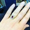18K yellow gold 1.26ct Natural Ruby and 1.00ct Diamond Ring - image 5