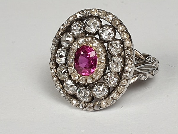 Super Antique Ruby and diamond dress ring  DBGEMS - image 3