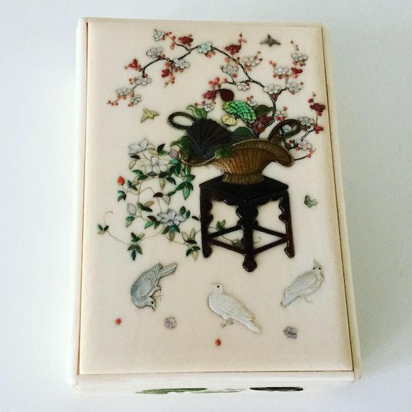 Shibayama box and cover - image 3
