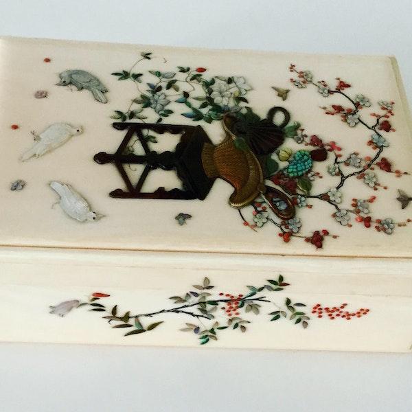 Shibayama box and cover - image 2