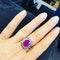 18K white gold 5.00ct Natural Ruby and 1.90ct Diamond Ring - image 5