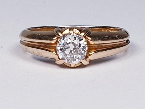 Gentleman's old cut diamond ring  DBGEMS - image 1