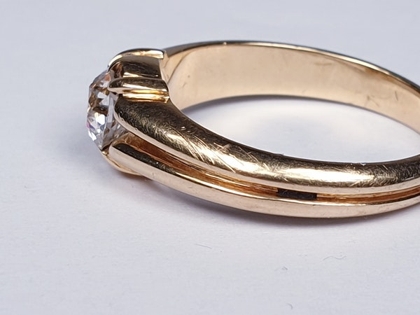 Gentleman's old cut diamond ring  DBGEMS - image 3