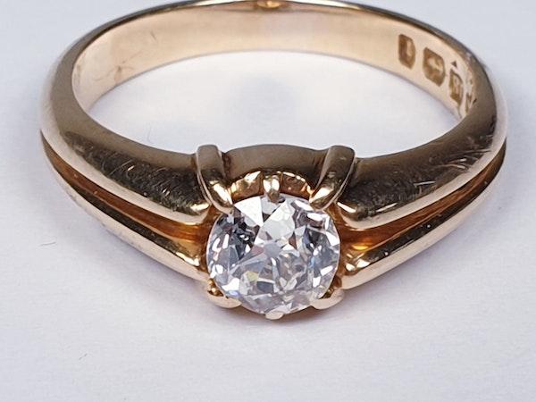 Gentleman's old cut diamond ring  DBGEMS - image 2