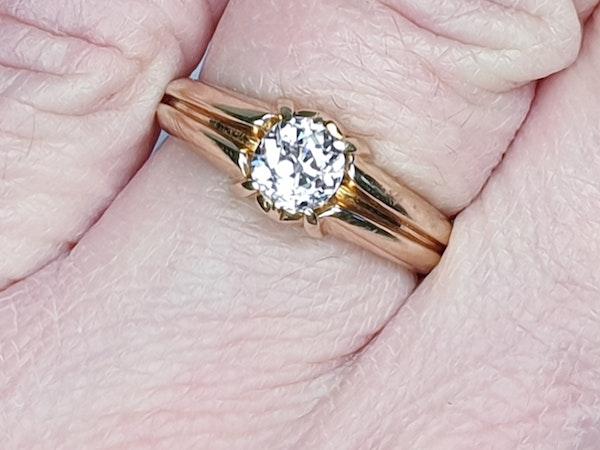 Gentleman's old cut diamond ring  DBGEMS - image 5