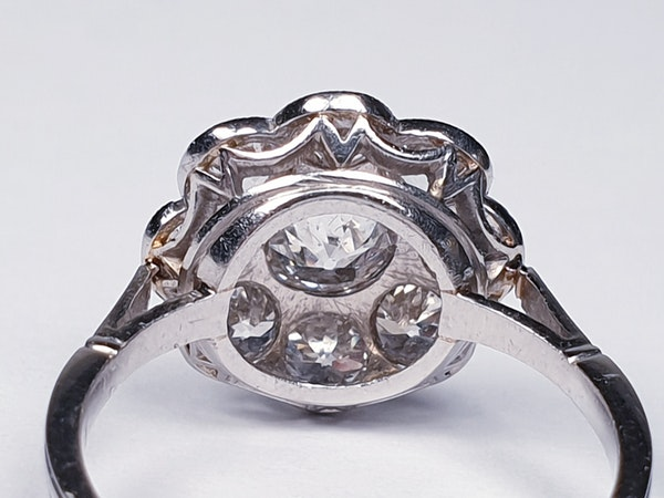 Art Deco French Diamond Cluster Ring  DBGEMS - image 4