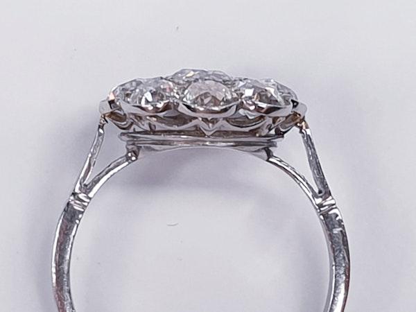 Art Deco French Diamond Cluster Ring  DBGEMS - image 5