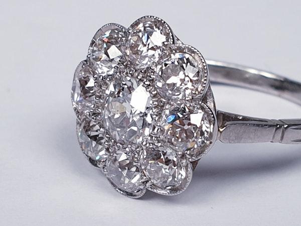 Art Deco French Diamond Cluster Ring  DBGEMS - image 2