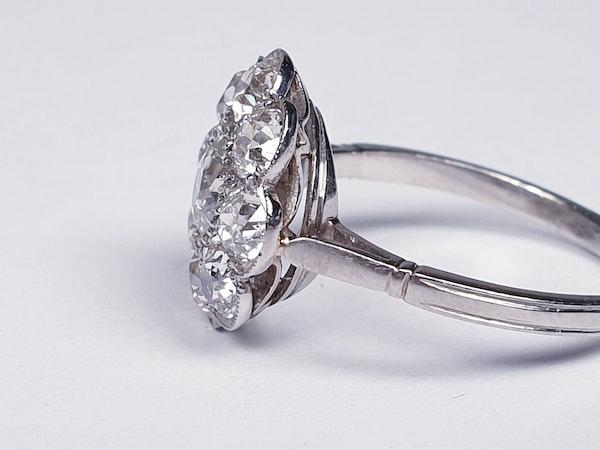Art Deco French Diamond Cluster Ring  DBGEMS - image 3