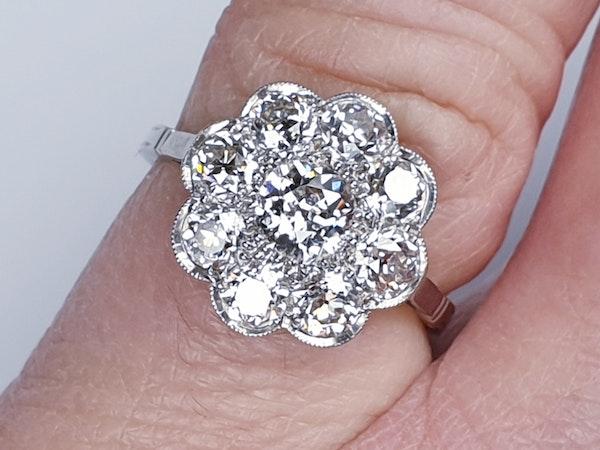 Art Deco French Diamond Cluster Ring  DBGEMS - image 1
