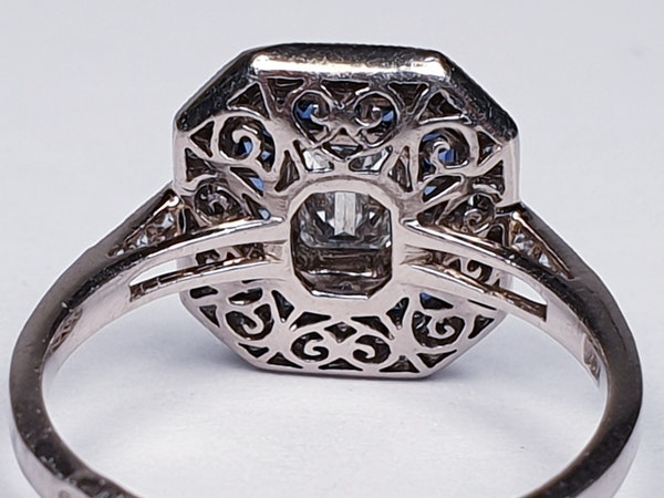 French Sapphire and Diamond Engagement Ring  DBGEMS - image 4