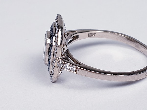French Sapphire and Diamond Engagement Ring  DBGEMS - image 3