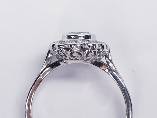 French Oval Diamond Cluster Engagement Ring  DBGEMS - image 1