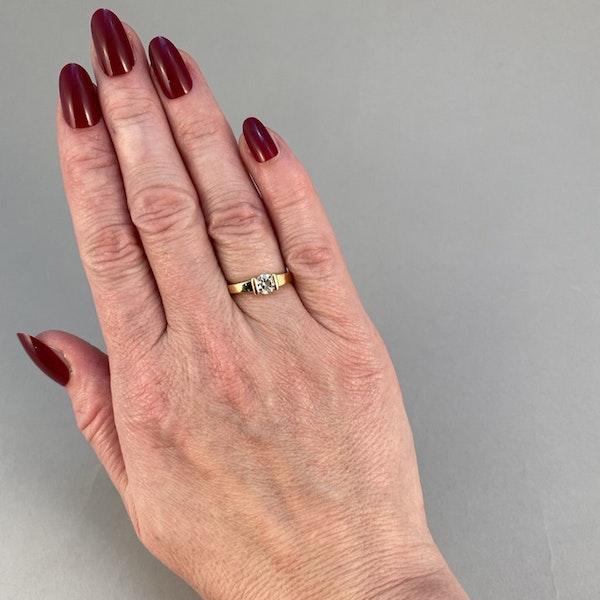 1970's, 18ct Yellow Gold and Diamond stone set Ring, SHAPIRO & Co since1979 - image 1