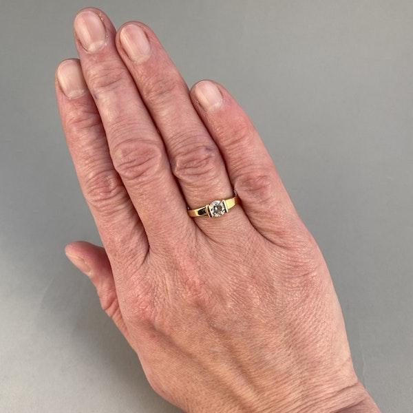 1970's, 18ct Yellow Gold and Diamond stone set Ring, SHAPIRO & Co since1979 - image 2