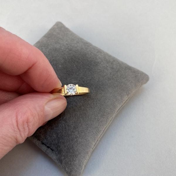 1970's, 18ct Yellow Gold and Diamond stone set Ring, SHAPIRO & Co since1979 - image 3