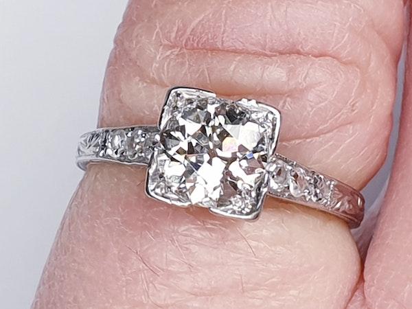 Art Deco Geometric Diamond Engagement Ring  DBGEMS - image 5